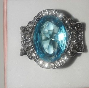 Aquamarine size 8 ring brand new